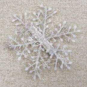 Заколка для волос новогодняя снежинка Pamaya 23456