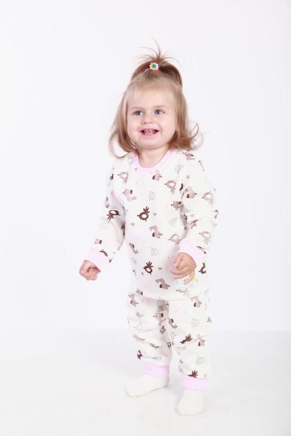 Пижама PaMaYa 3-07-1 белая с принтом