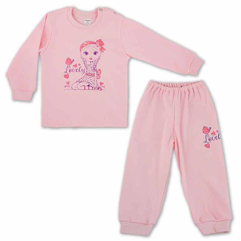 Пижама для девочки арт:91-07н-1 розовая