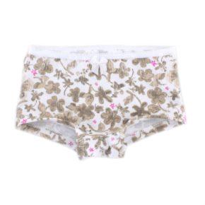 Трусики-шорты для девочки PaMaYa 1-81-4 белые с принтом