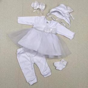 Комплект крестильный для девочки PaMaYa 9-41