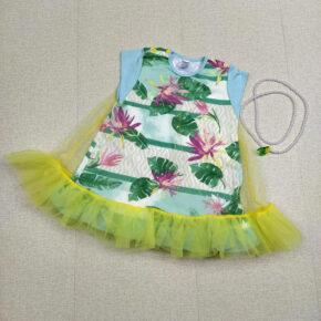 Платье с фатином и бусами PaMaYa 9-60