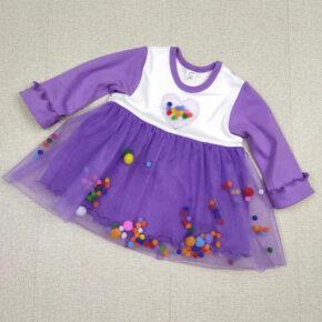Платье с пампонами PaMaYa 9-50